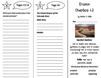 Erosion Trifold - ReadyGen 4th Grade Unit 3 Module B