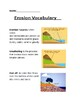 Erosion Vocabulary and Quiz