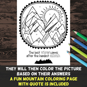 Weathering, Erosion & Deposition Color by Number - Science Color by Number