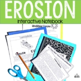 Erosion, Weathering, & Deposition Interactive Notebook & M
