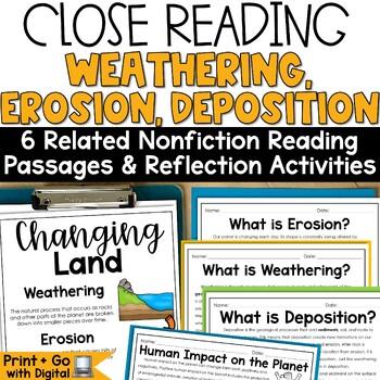 Erosion, Weathering, Deposition Nonfiction Close Reading