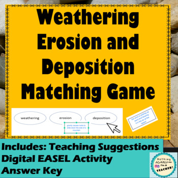 Erosion, Weathering and Deposition Matching Game