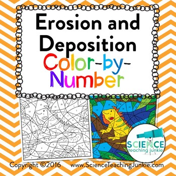 Erosion and Deposition Color-by-Number (TEKS 7.8B, 4.7B, 5.7B)
