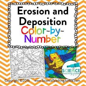 Erosion And Deposition Color By Number Teks 78b 47b 57b Tpt