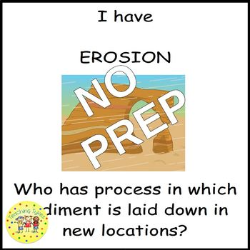 Erosion and Deposition I Have, Who Has Game