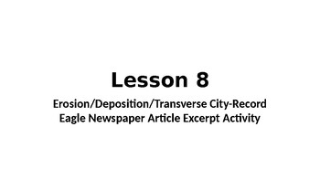 Erosion and Deposition Newspaper article writing excerpt activity