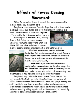 Forces Lesson 8 - Effects of Forces
