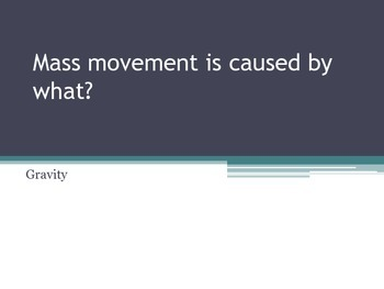 Erosion and Mass Movement Review