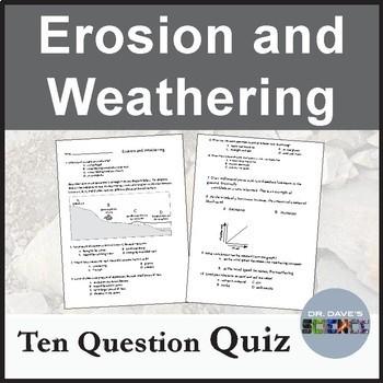 Erosion and Weathering Quiz