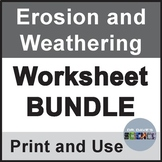 Erosion and Weathering Worksheet Packet NGSS 4-ESS1-2