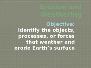 Erosion and Weathering presentation
