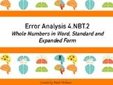Error Analysis 4.NBT.2