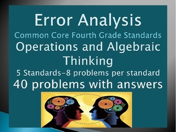 Error Analysis: 4th Grade Common Core Operations and Algebraic Thinking