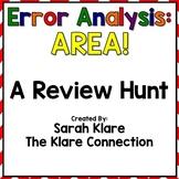 Error Analysis: AREA! {A 3rd Grade Review Hunt}
