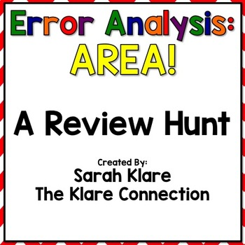 Error Analysis: AREA! {A 3rd Grade Review Hunt}