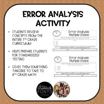 Error Analysis Activty