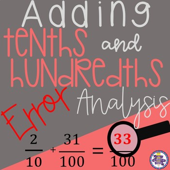Error Analysis - Adding Fractions: Tenths and Hundredths {4.NF.C.5}