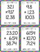 Error Analysis: Adding and Subtracting Decimals Task Cards