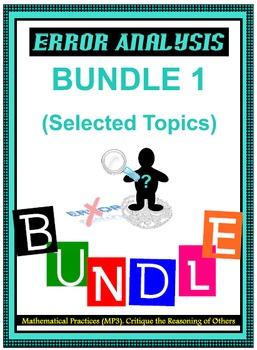 Algebra I & Algebra II Error Analysis - BUNDLE 1 (68 Cards)