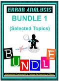 Algebra I & Algebra II Error Analysis - VOLUME 1 (68 Cards)