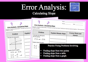 Error Analysis:  Calculating Slope