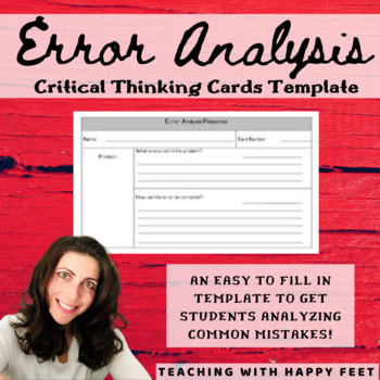 Error Analysis Cards