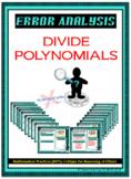 Error Analysis - Divide Polynomials