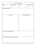 Error Analysis (Editable)