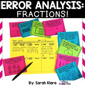 Error Analysis: FRACTIONS! {A 3rd Grade Review Hunt}