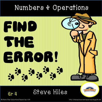 Numbers and Operations: Find the Error!