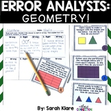 Error Analysis: Geometry! {A 2nd Grade and 3rd Grade Review Hunt}