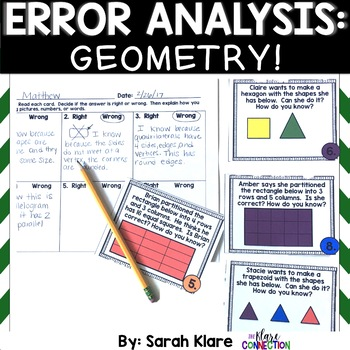 Error Analysis: Geometry! {A 2nd and 3rd Grade Review Hunt}