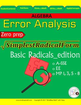 Error Analysis: Simplifying BASIC RADICAL Square Root Expressions
