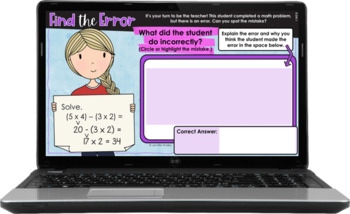 Error Analysis Math Tasks