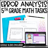 Error Analysis Math Tasks *Google Slides™ Included for Distance Learning