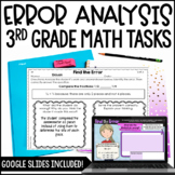 Error Analysis Math Tasks {3rd Grade}