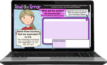 Error Analysis Math Tasks {4th Grade} With Google Slides™ for Distance Learning