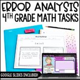 4th Grade Error Analysis Math Tasks w/ Google Slides™ Digi