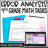 Error Analysis Math Tasks {4th Grade}
