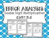 Error Analysis - Multiplication 2 Digit Factors - 5.NBT.B.6