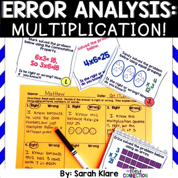 Error Analysis: Multiplication! {A 3rd Grade Review Hunt}