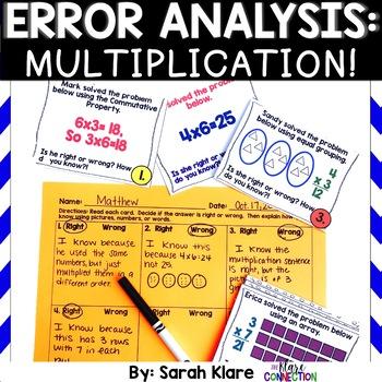Error Analysis: Multiplication! {A 3rd Grade Review Hunt}