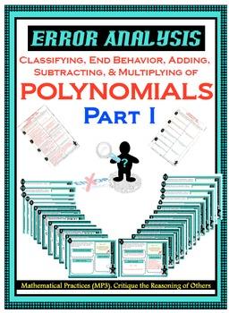 Error Analysis - POLYNOMIALS - PART I