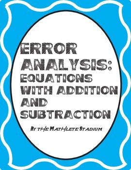 Error Analysis: Printable One Step Equations Pack (Add., Sub., Mult., Div.)