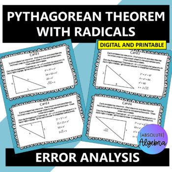 Error Analysis Pythagorean Theorem with Radicals