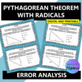 Pythagorean Theorem with Radicals:  Error Analysis
