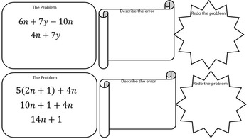 Error Analysis (Simplifying Expressions)