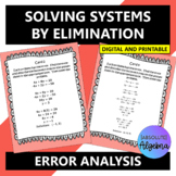 Solving Linear Systems of Equations using Elimination:  Er