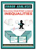 Error Analysis - Solving One-Step Linear Inequalities