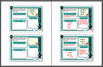 Error Analysis - Solving Two & Multi-Step Linear Inequalities